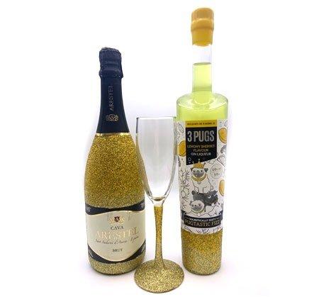 PugGin' BlinGin' Gin Liqueur & Fizz Gift Set